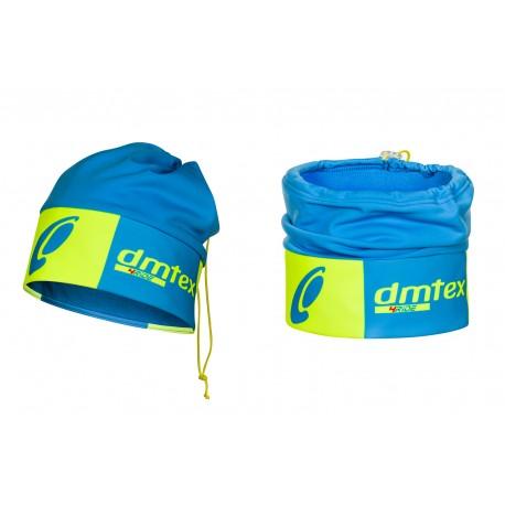 Bonnet hiver bleu/jaune fluo