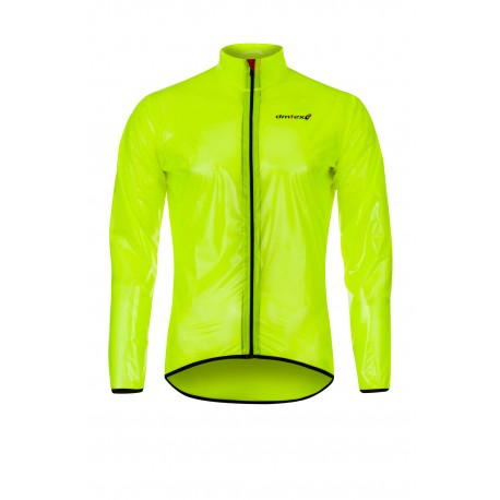 Coupe pluie transparent jaune fluo