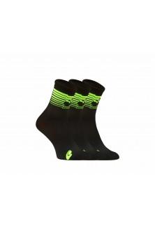 PACK Chaussettes noir vert fluo