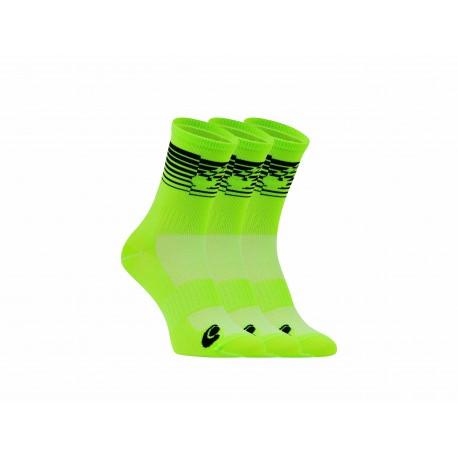 Packs chaussettes vert fluo noir