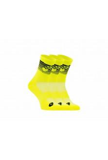 Packs chaussettes jaune fluo noir