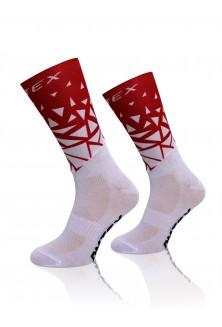 Chaussettes Aérodynamique-Compétition Rouge Blanc
