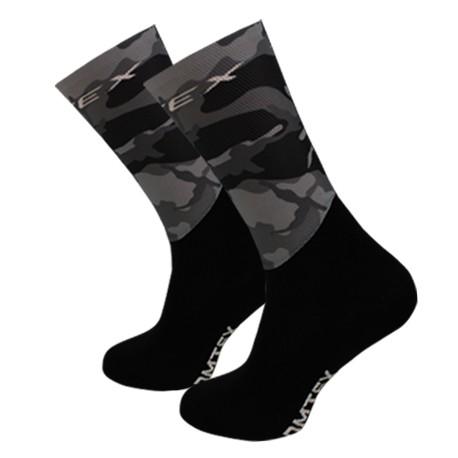 Chaussettes compétition Camouflage Gris