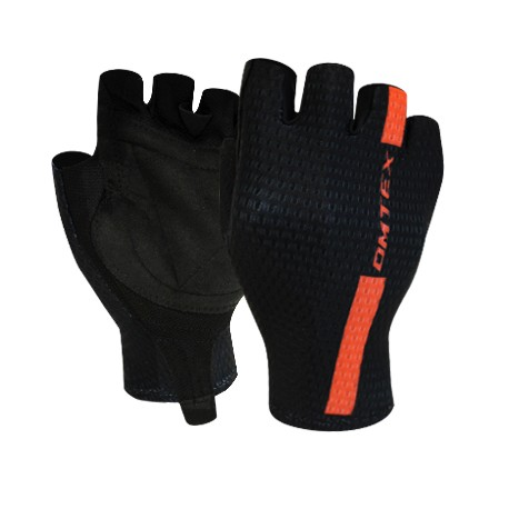 Gant noir bande orange