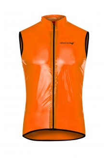 Gilet transparent orange
