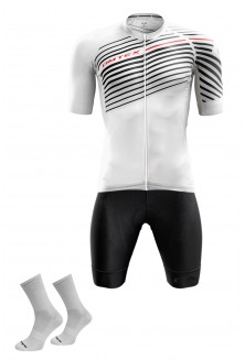 Packs Blanc maillot +cuissard +chaussettes