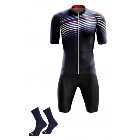 Packs Bleu Marine maillot +cuissard +chaussettes