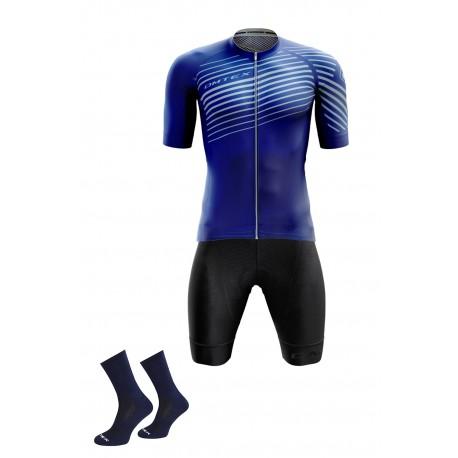 Packs Bleu maillot +cuissard +chaussettes