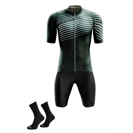 Packs Vert maillot +cuissard +chaussettes