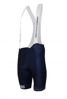Cuissard court avec bretelles Paris Cycliste Olympique Bleu Marine Mix