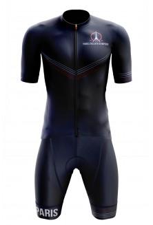 Cuissard court avec bretelles Paris Cycliste Olympique Bleu Marine
